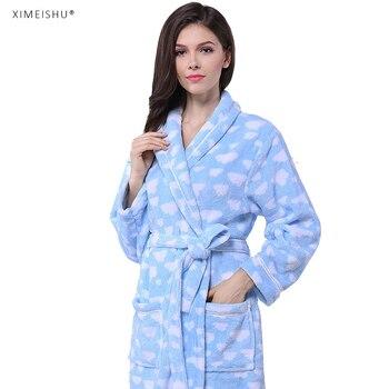 Promotion bathrobe on sale coral fleece women bathrobe