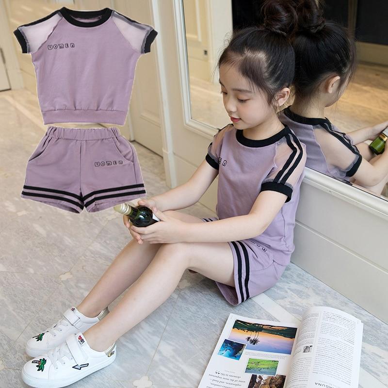 Комплект для девочек, лето 2019, 4, 5, Новое Детское платье, 6, 7, модная одежда для девочек 8, Gas 9, для детей 10 лет