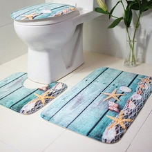 3pcs Bathroom Carpet Blue Shark Pedestal Rug Household Bathroom Non-slip Mat Lid Toilet Covers Bathroom Accessories Bath Mat Set