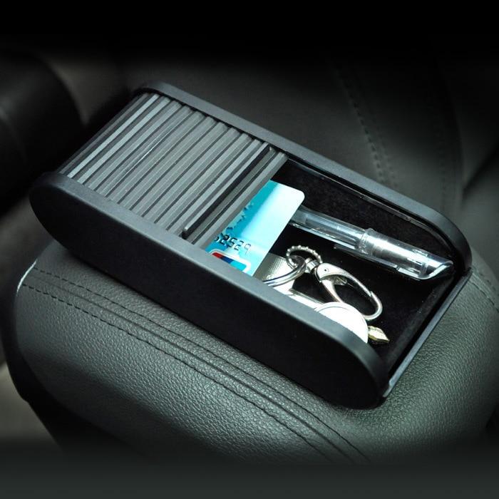 Caja de almacenamiento de monedas telescópicas de bolsillo de plástico para coche multifuncional