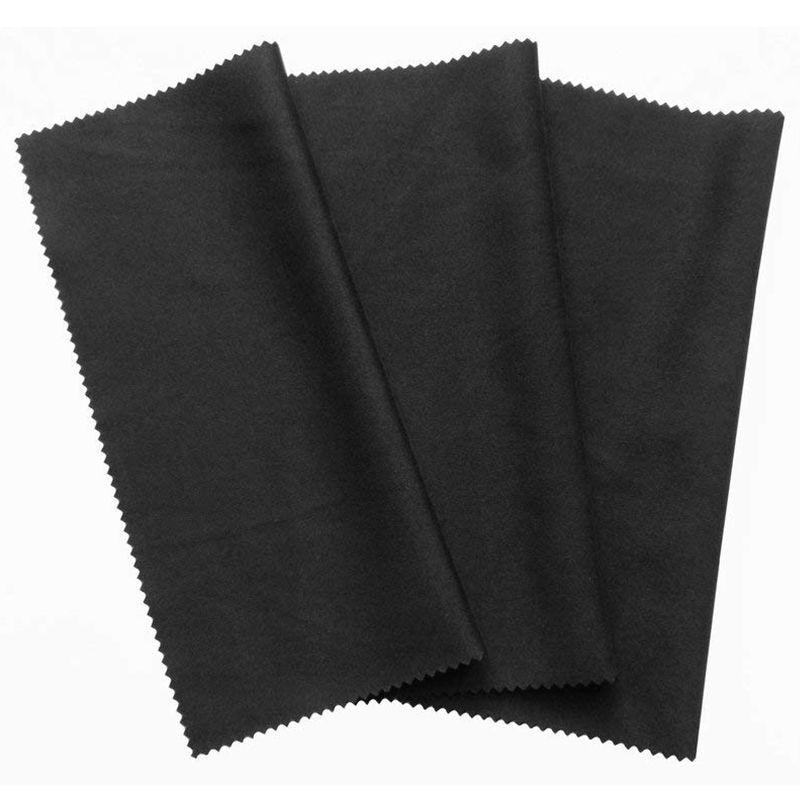 3x paño de limpieza de microfibra 20x19cm negro paños de limpieza pantalla táctil smartphone Pantalla de lente de ordenador portátil