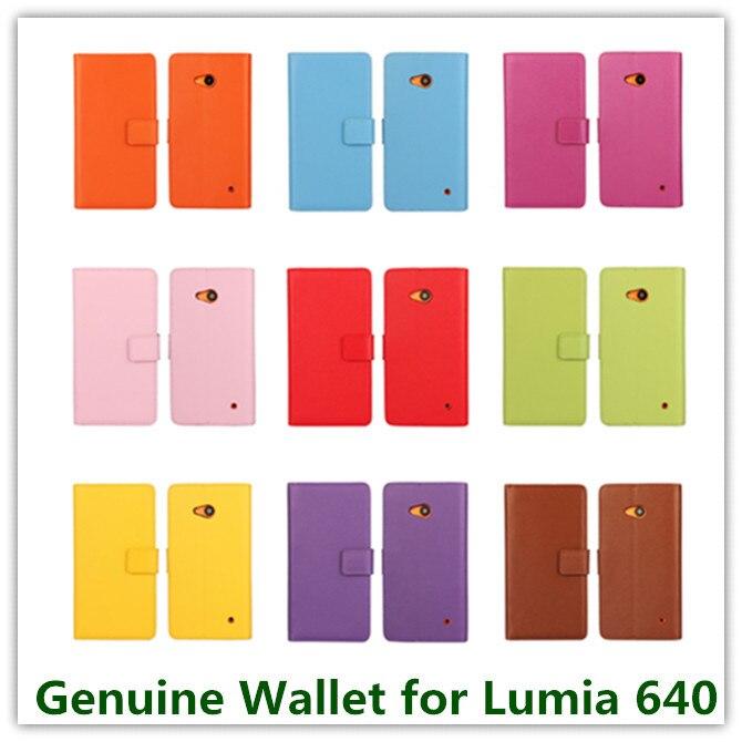 1 個ファッションレッド本革スロットスタンドポーチ折りたたみ財布財布マイクロソフトの Lumia 640 ID カードホルダー電話バッグ