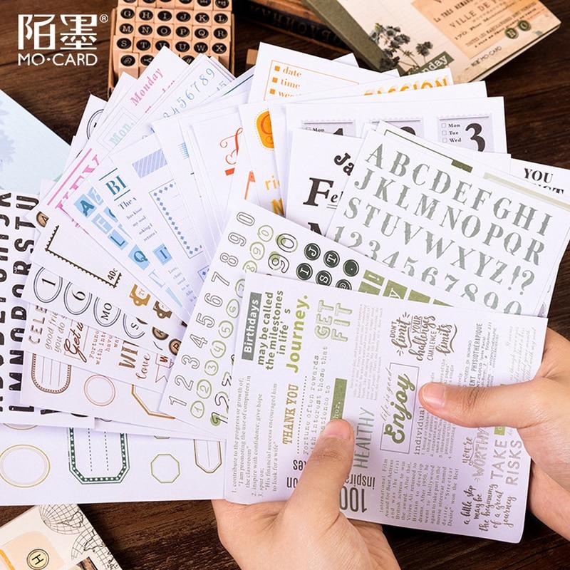 5 Pcs/set Kawaii Diary DIY Decorative Label Washi Stickers School Office Scrapbooking Child Gift Stationery Sticker