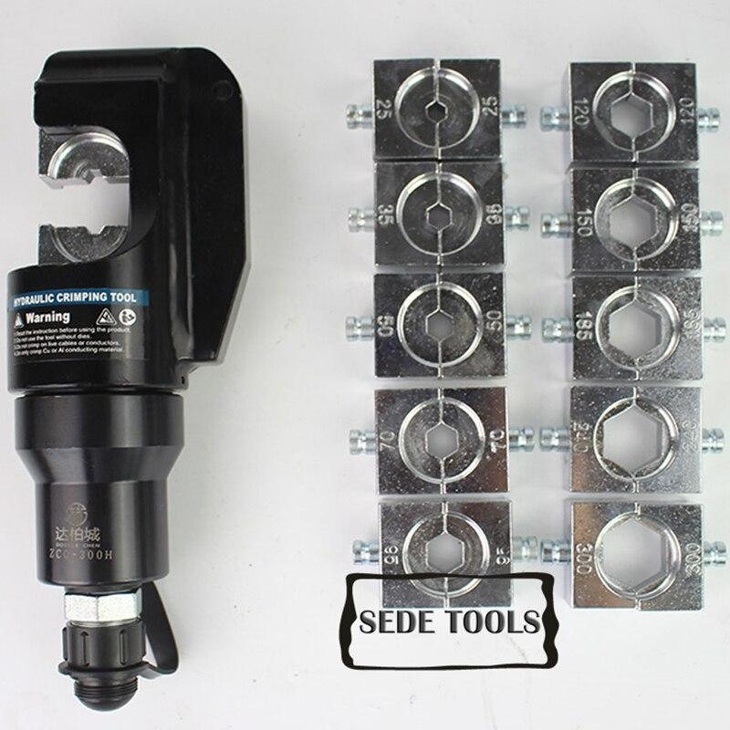 Ferramentas de friso hidráulicas 16-300mm2 ZCO-300H das cabeças de friso