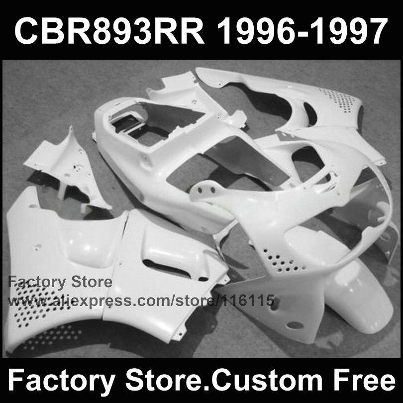 ABS kits de carenado para HONDA cbr900cr 96 97 CBR893 CR 1996 1997 blanco completo motocicleta CBR 893 piezas de carenados
