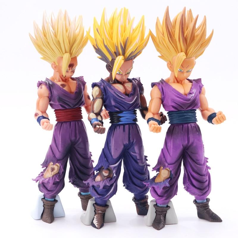 Anime versión dañada de la batalla Bola de Dragón Z Super Saiyan Son Goku PVC figura de acción 3 estilos de colección de juguetes modelo regalos para niños