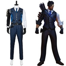 OW Cosplay Costume Shimada Hanzo Cosplay Costume Suit Men Uniform Adult  Halloween Carnival Costumes