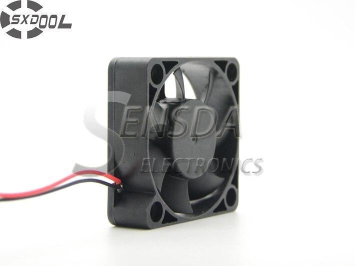 SXDOOL 5015 5cm 50mm 50*50*15cm Dual Ball bearing 12V 0.12A server case DC Brushless Fan 4500RPM 11.5CFM 2-wire lead