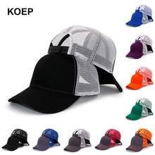 KOEP-casquette de camion en coton   Nouveau Type décontracté, casquette dété noir blanc, casquette de Baseball, Cool maille, Snapback chapeaux pour papa, livraison gratuite