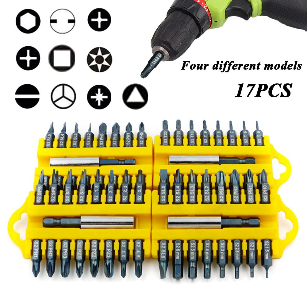 Hot 17 PCS Magnetic Holder Electric Screwdriver Bit Set For Power Tools