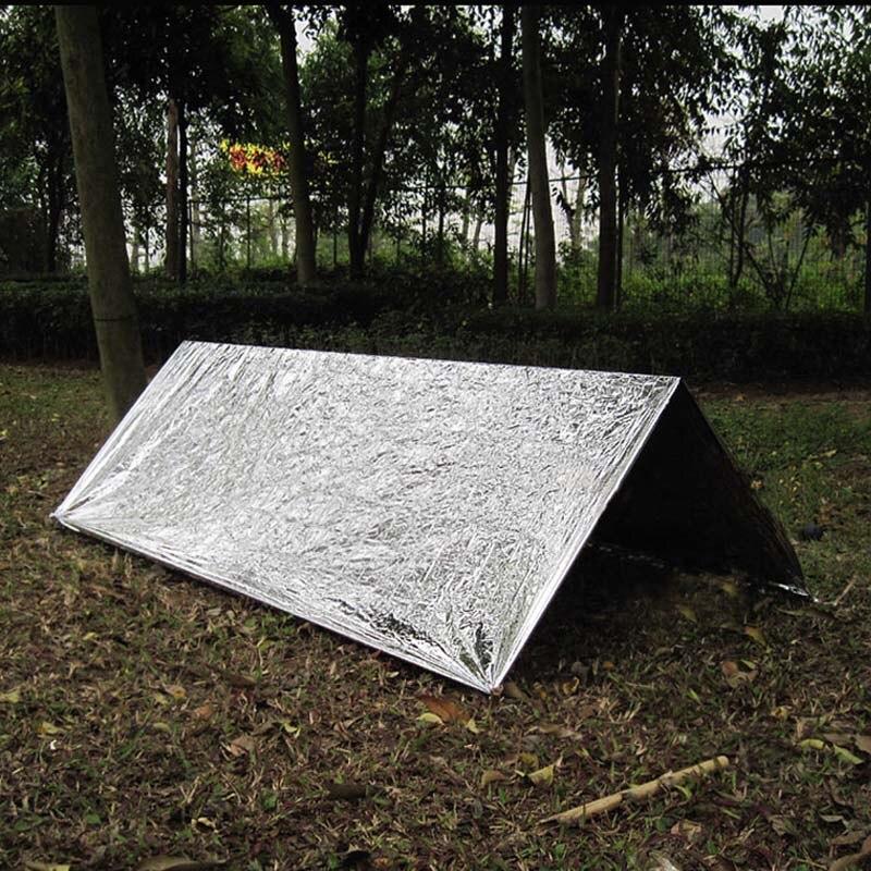 Astilla portátil Kit de supervivencia de emergencia tienda refugio impermeable al aire libre rescate Camping refugio emergencias mantener caliente