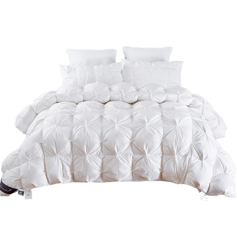 TUTUBIRD 2.7~4.9kg Goose/Duck Down Quilt Duvet King Queen Twin size White/Blue/Pink/Brown Luxury Winter Blanket Comforter Filler