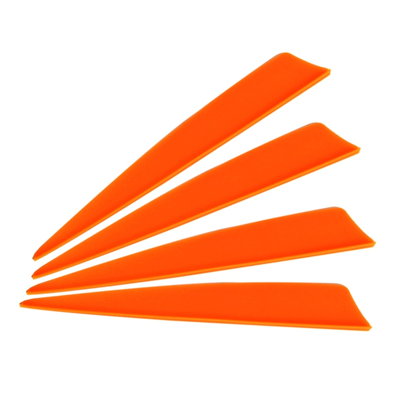 50 pcs Archery Arrow Vane Plastic Orange Vane for Arrow DIY Crossbow Bolt Accessories Archery Bow Outdoor