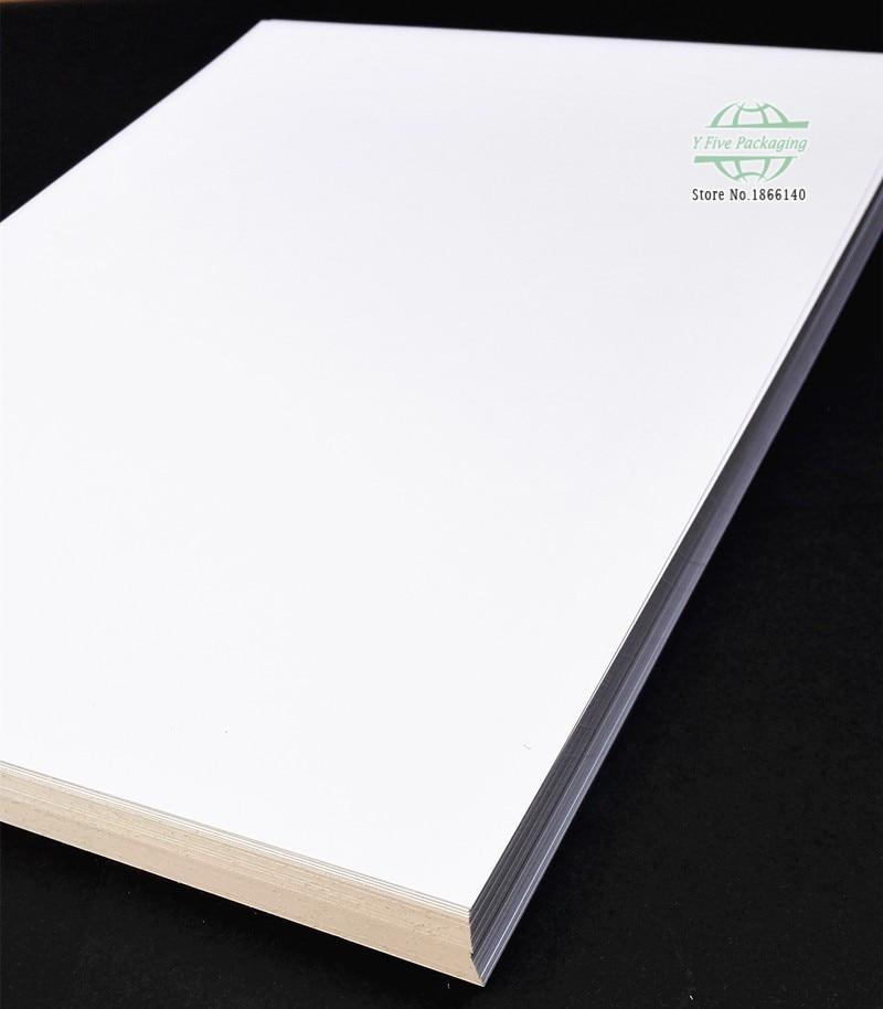 A3 Weiß Kraft Papier DIY Karte Machen Handwerk Papier Blank Kraft Papier 120gsm - 400gsm 100 stücke los Freies verschiffen