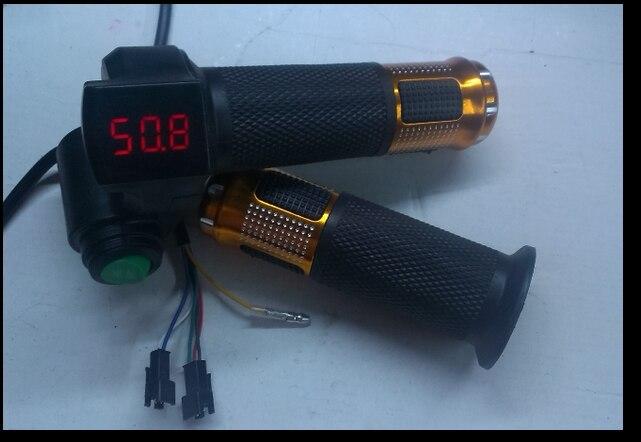 Acelerador de giro de 12-100v para pedal para bicicleta eléctrica scooter mtb triciclo con Pantalla digital y interruptor de crucero Indicador de voltios de batería