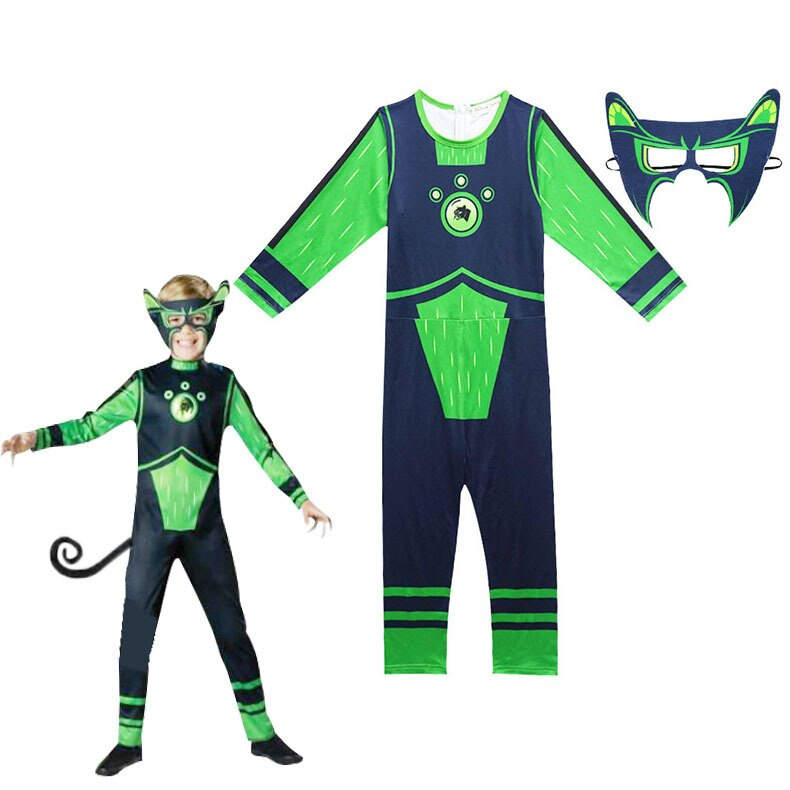 Kratts disfraz de Halloween para niños de estándar verde de guetah Wild de Incharacter