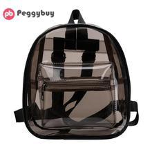 Clear Transparent Women Backpacks Shoulder Bags For School Mini Backpacks Schoolbags For Teenage Girls Fashion Bookbag mochila