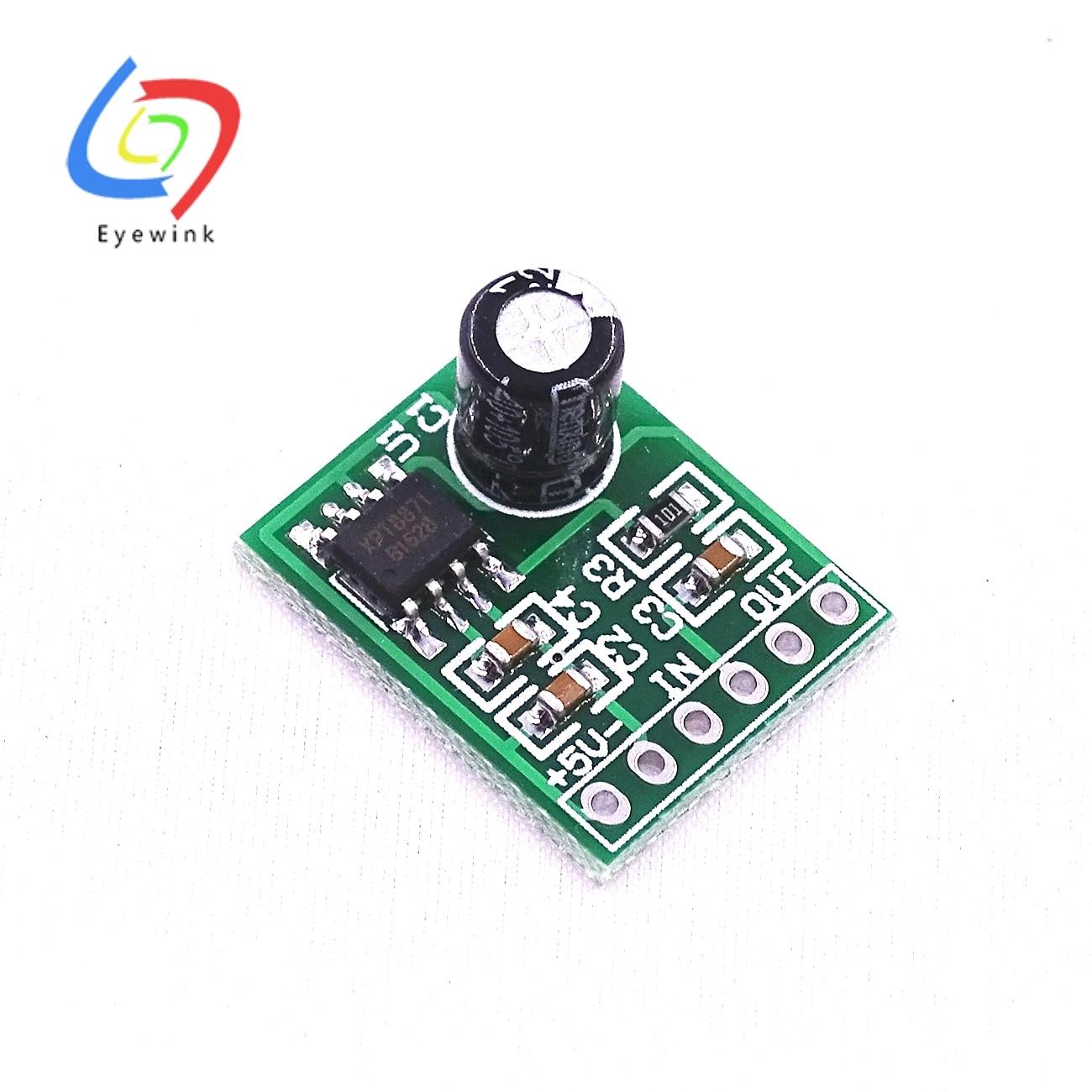 1 шт. мини XPT8871 моно стерео литиевая батарея усилитель мощности плата 6 Вт Поющая машина модуль 3 в 5 в 5 Вт аудиовыход вход
