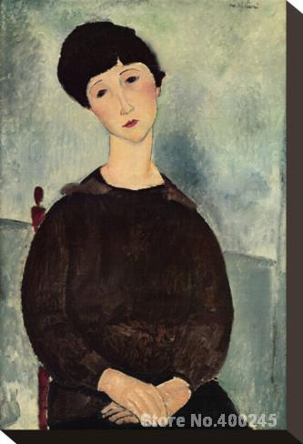 Pintura desnuda de Amedeo Modigliani Jeune Fille Brune Asse decoración redroom hecho a mano de alta calidad