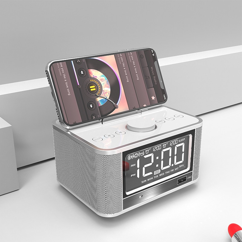 EXRIZU-X7 مكبر صوت لاسلكي يعمل بالبلوتوث 4000 ، بطارية 4.2 مللي أمبير ، محطة إرساء ، منبه ستريو ، راديو FM ، قرص TF ، بطاقة USB ، مشغل AUX