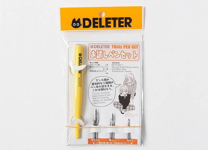 Набор пробных ручек Deleter Dip Pen Set Pen Holder Maru-Pen/G-Pen/Saji Pen мультяшная ручка для рисования