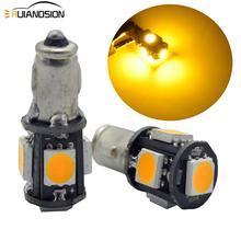 2 pièces/lot 6V 12V Triumph Lucas indicateur voyant indicateur ampoules 5050 5SMD 100lm 281 BA7S 2W Six couleurs