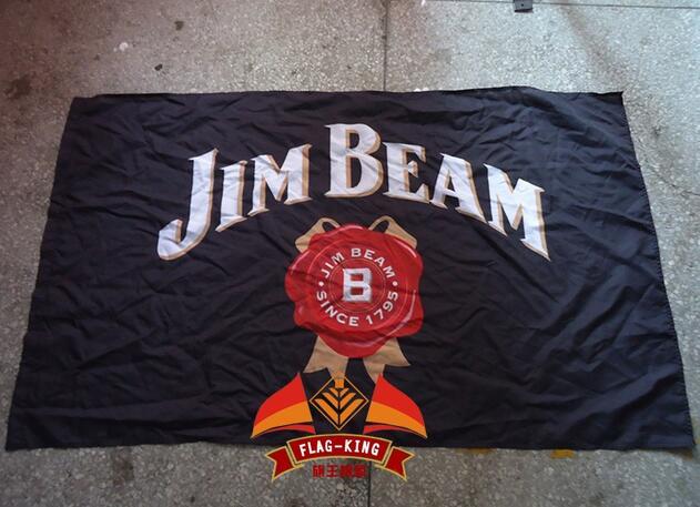 Jim Bandera de poliéster de marca flagking 90*150CM haz banner