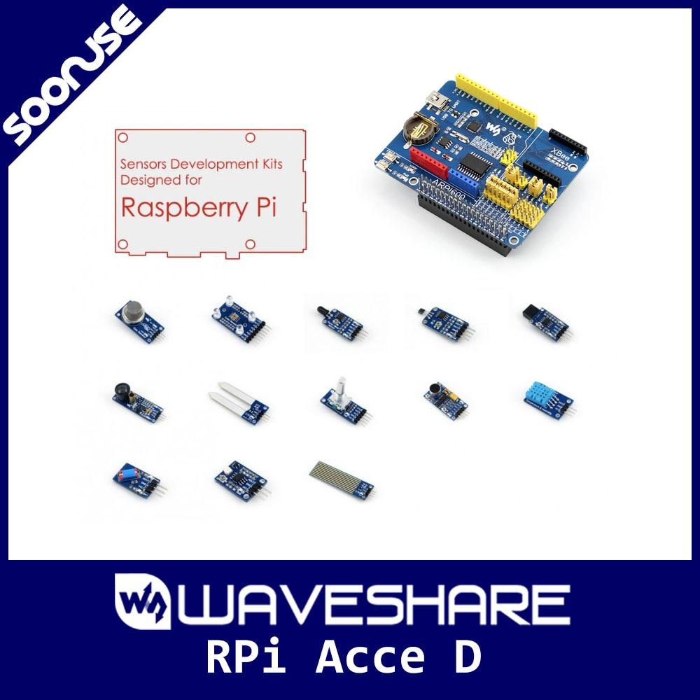 Módulos de accesorios Raspberry Pi que incluyen placa de expansión ARPI600 + Paquete de sensores + tarjeta SD