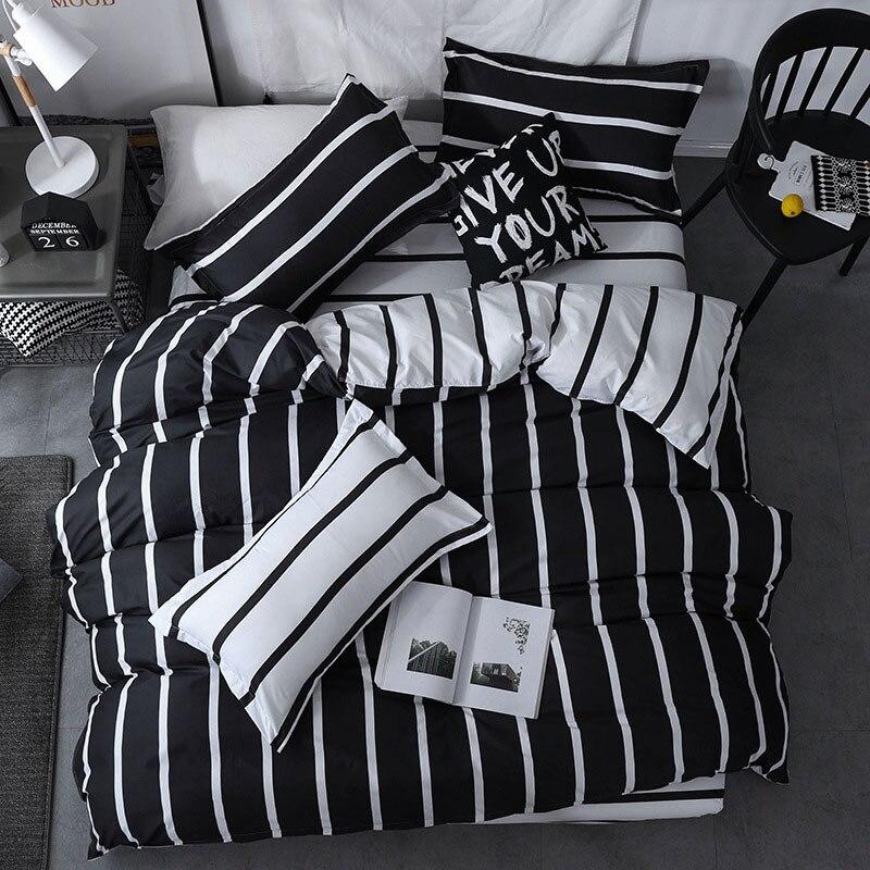 Negro 4 tiras de UDS niña niño chico cama cubierta de funda nórdica para cama de niño sábanas y fundas de edredón de cama 2TJ-61018