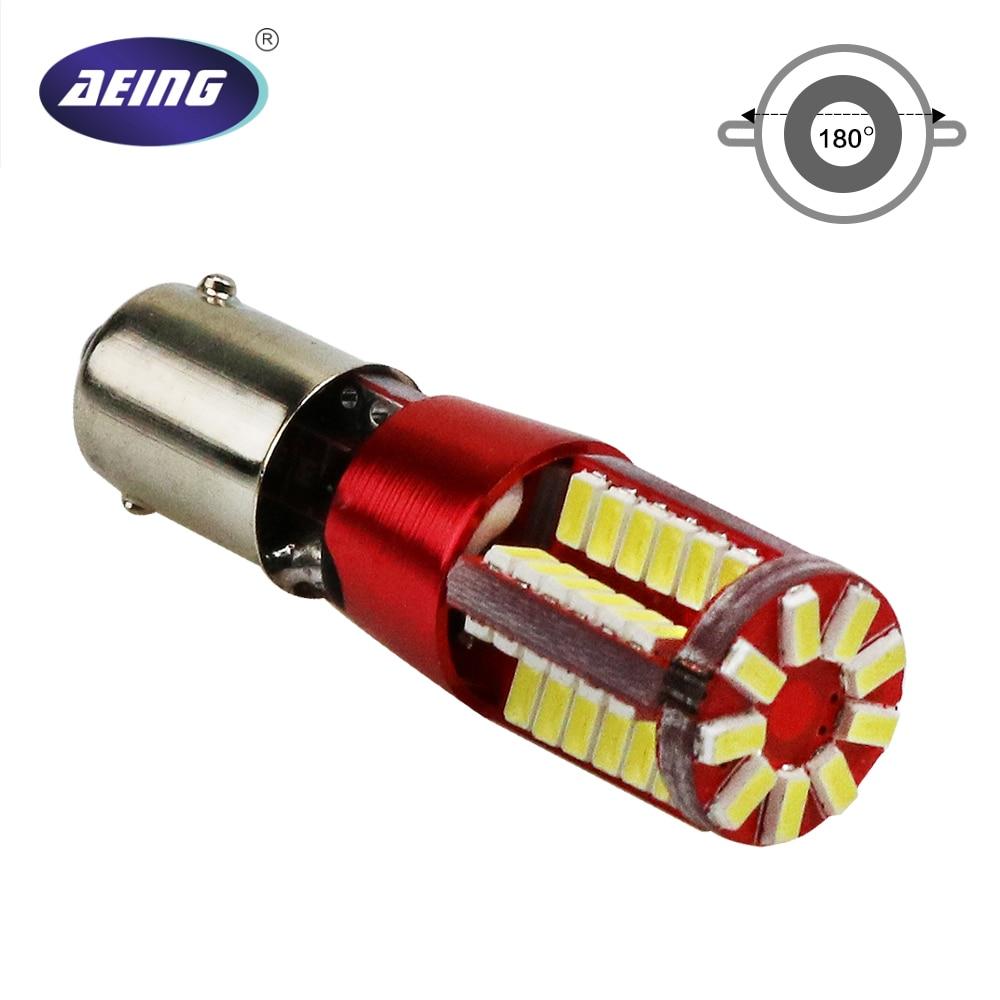 AEING 1 piece T11 T4W W6W H6W BA9S 3014 57SMD Canbus LED Error Free Led Wedge Door Read Light Lamp Bulb Xenno White Red Blue