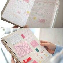 27 pçs/lote Coreano Notebook Calendário Álbum Diário Memorando Mensagem Notas Papel Memo Sticker Sticky Notes/Papeleria/Produtos de Papelaria