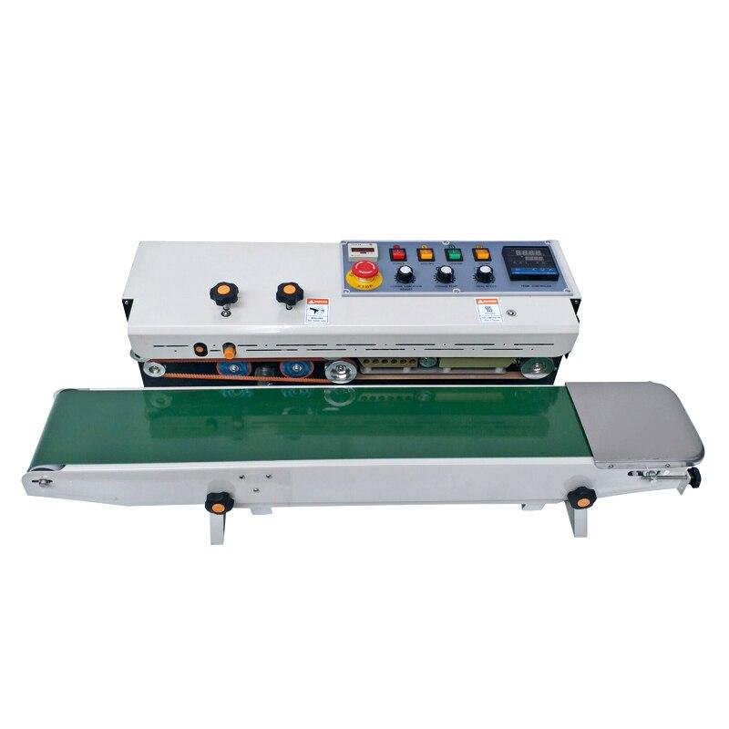 2020 nueva máquina de sellado de banda continua de tinta sólida con contador digital