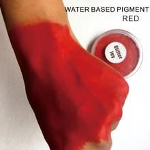 30 g/unidad de maquillaje rojo a base de agua de pigmento de pintura de cara de Rojo puro para el cuerpo en la fiesta de Halloween vestido elegante herramienta de maquillaje de belleza