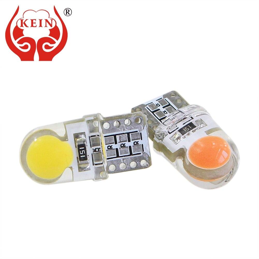 Kein 10 pçs w5w t10 194 168 sílica espiga vaidade espelho placa de licença luz tronco lâmpada caminho iluminação 12 v branco carro auto lâmpada led
