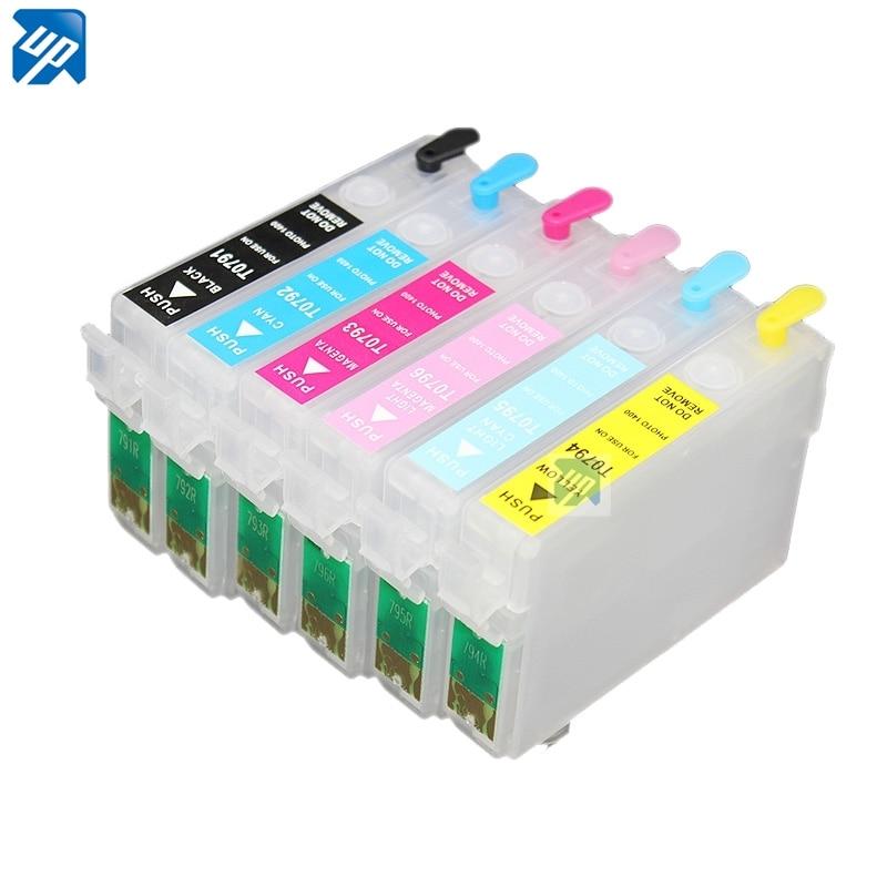 T0791 T0792 T0793 T0794 T795 T0796 cartucho de tinta Recarregáveis para PX730WD PX830FWD 1500 1500W 1400 1430 com chip de reset automático