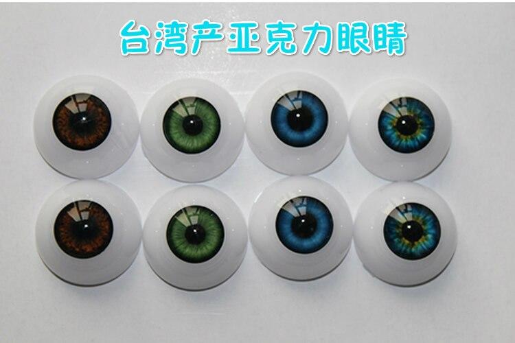 Высококачественные полукруглые акриловые кукольные глаза, 22 мм, подходят для 22 дюймов reborn, Детские комплекты, глазные шарики, цветные кукол...