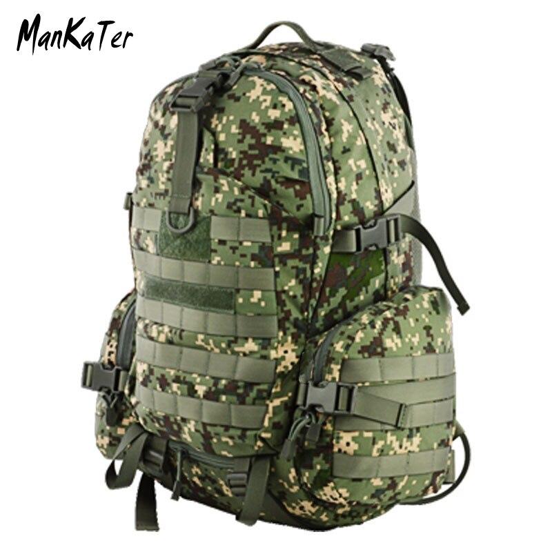 ManKaTer, Envío Gratis, fábrica de fuentes, alta calidad, al aire libre, Camuflaje táctico, Camping, impermeable, tanques militares backpack45L