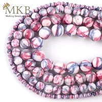 wholesale natural purple red stripes rain stone beads for jewelry making 4mm 10mm round beads diy bracelet necklace jewellery15