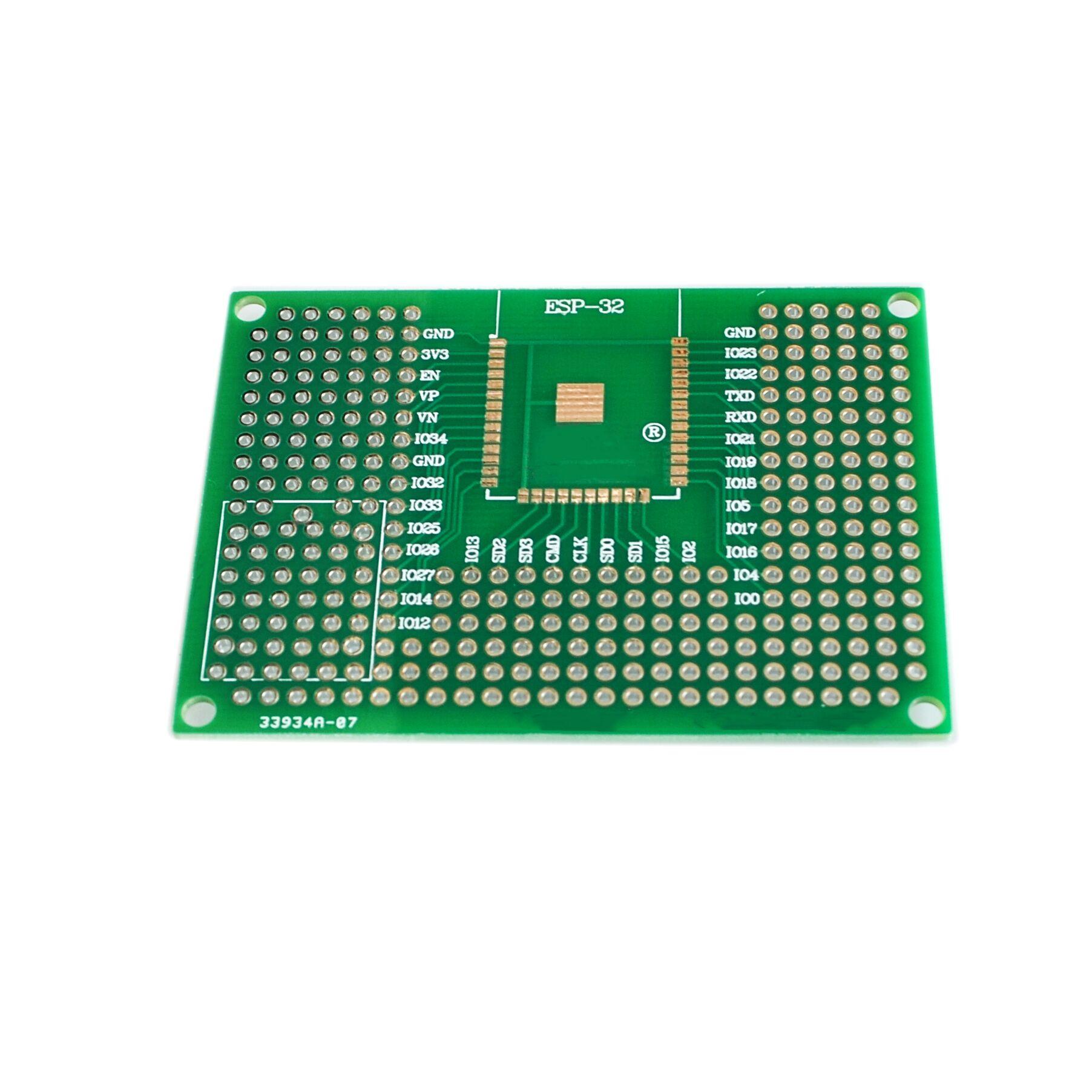 5X7 CM Doppel Side Prototyp PCB Steckbrett Universal-Board Für UNO R3 ESP8266 WIFI ESP-12F ESP-12E ESP32S ESP32 50x70mm