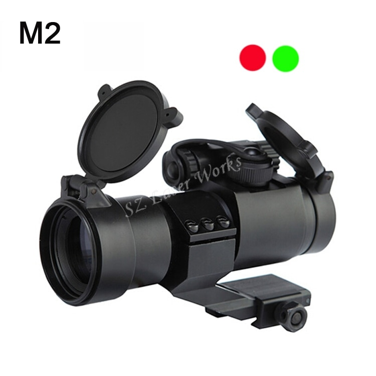 1x22 óptica de doble iluminación punto rojo y verde mira con 20mm rieles para caza rifle alcance envío gratis