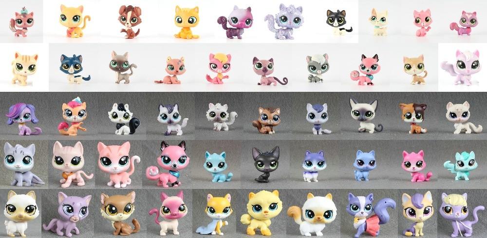 1pcs Pet Collection Figure Cat Kitty Persian Siamese kitten Animals Child Loose Cute Toys