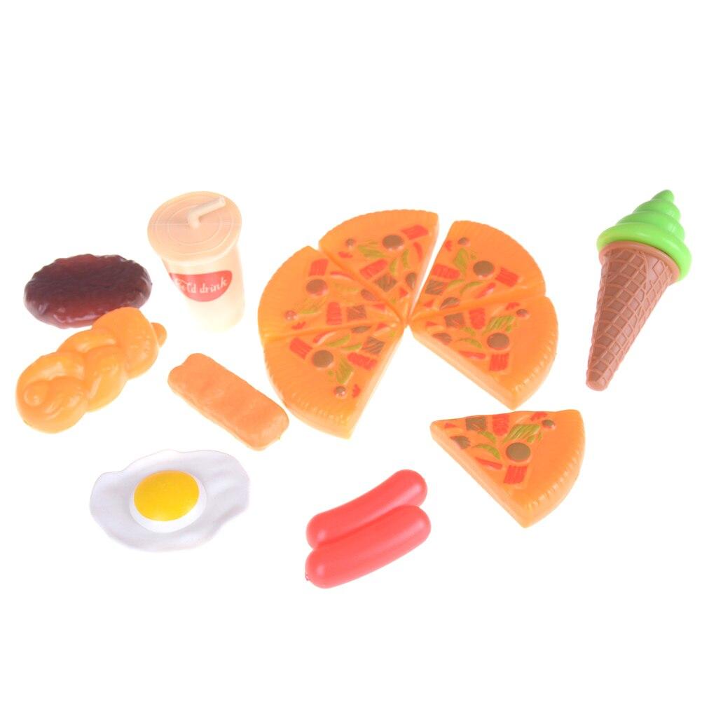 2018 nova cozinha fingir role play brinquedo engraçado plástico criança crianças pizza cola sorvete comida presente de aniversário para a criança