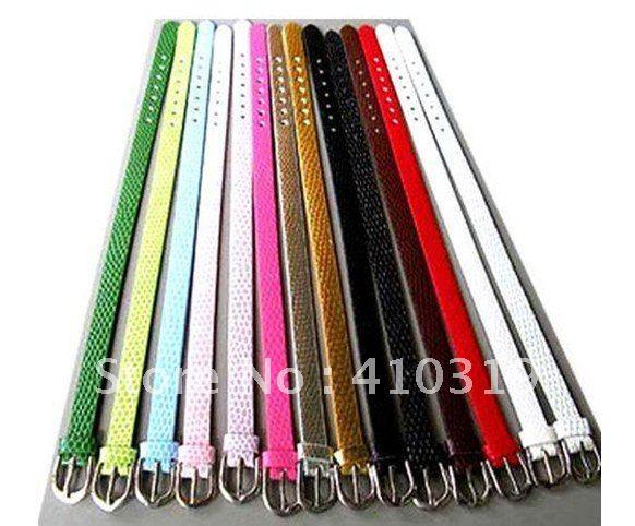 Оптовая продажа 100 полосок 8 мм широкий браслет из змеиной кожи ПУ кожаный браслет подходит для 8 мм diy слайд амулеты