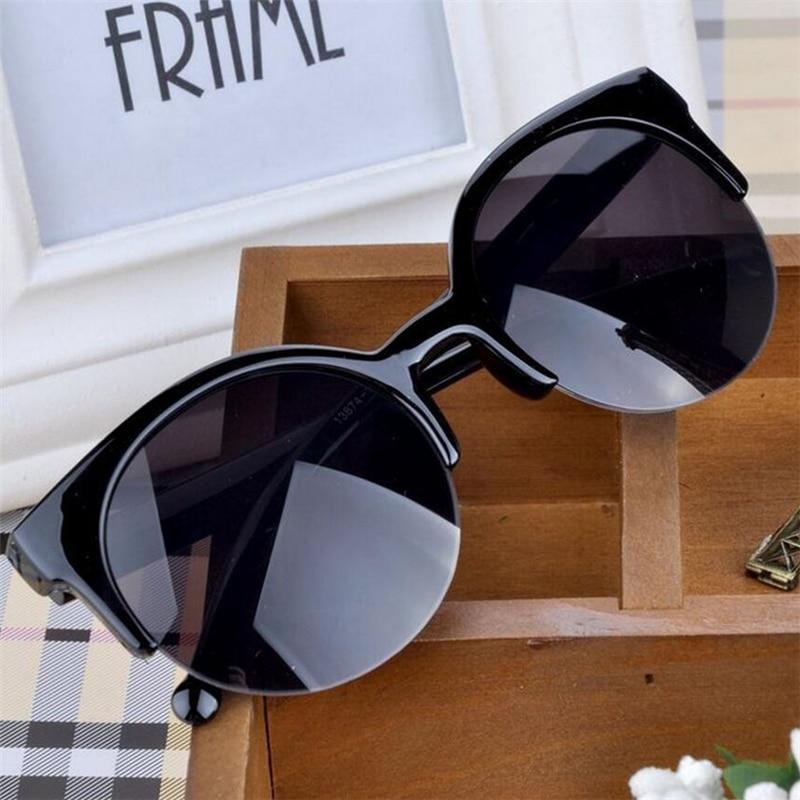 Oculos De Sol Feminino 2016 New Fashion Retro Designer Super Round Circle Glasses Cat Eye Women's Su