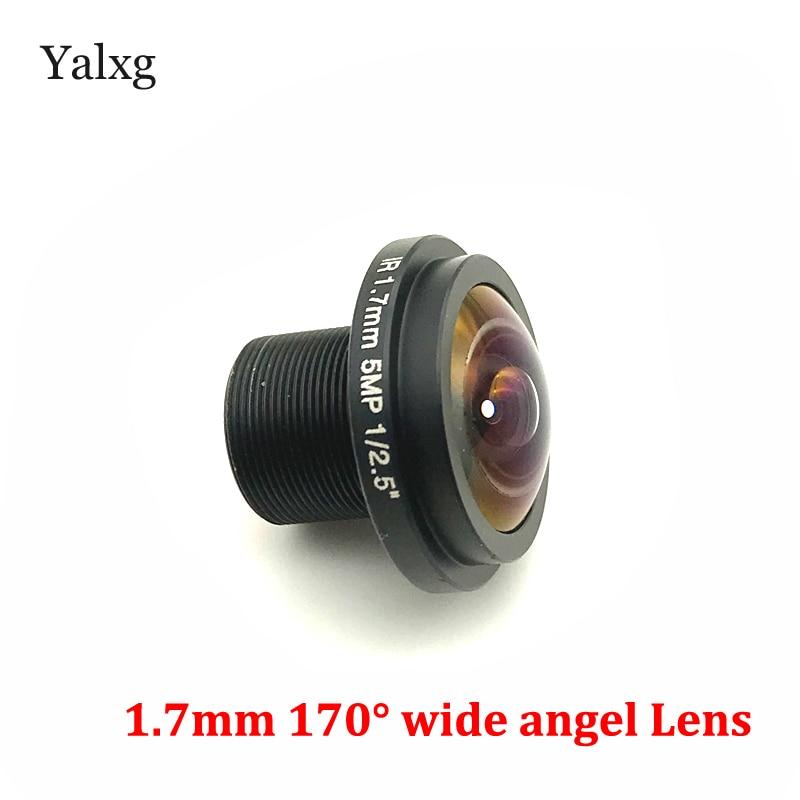 HD IR 1,7mm 5 megapíxeles 1/2. Lente panorámica de ojo de pez de 5 pulgadas lente gran angular de 170 grados para cámara ip cctv y cámara panorámica