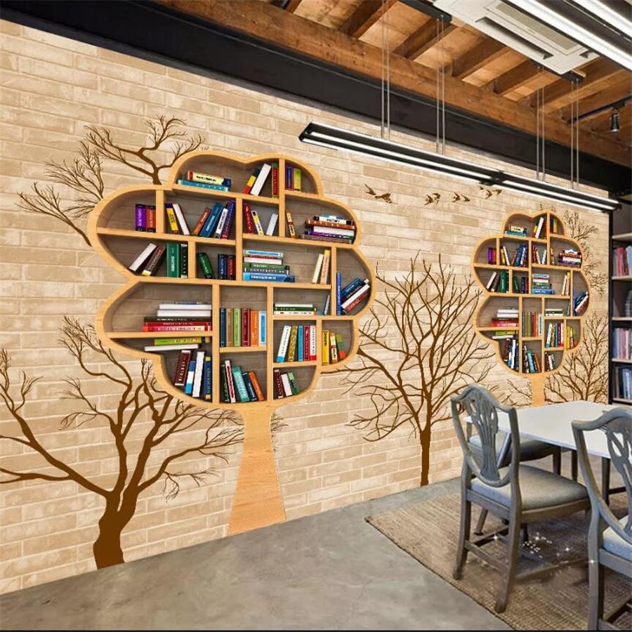 Wellyu-Papel tapiz personalizado para pared, Mural fotográfico 3d, librería, Bar, sofá nostálgico,...