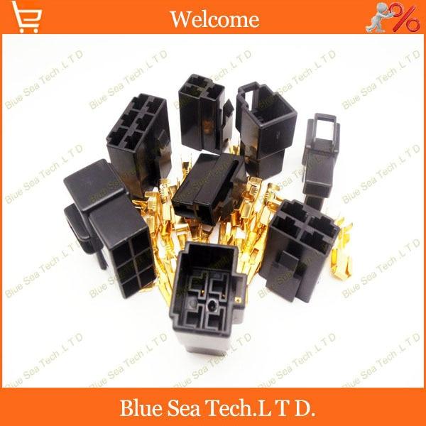 6.3mm 2 & 3 & 4 & 6 Way/pin Conector Elétrico Kits masculino & feminino (2/3/4/6 Pin) para Motos Carro ect. cor preta