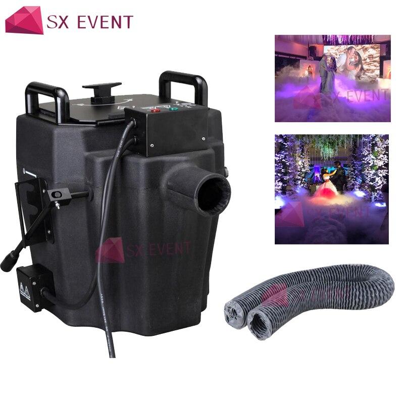 1 Uds 3500W tierra baja agua de niebla máquina de humo de hielo seco agua efecto de hielo seco 3m manguera para fiesta de DJ de boda de escenario