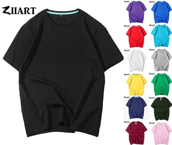 Camisetas de manga corta de verano para hombre, azul marino, Azul Real, verde militar, rosa, lago, azul claro, gris, verde, morado, rojo, ZIIART