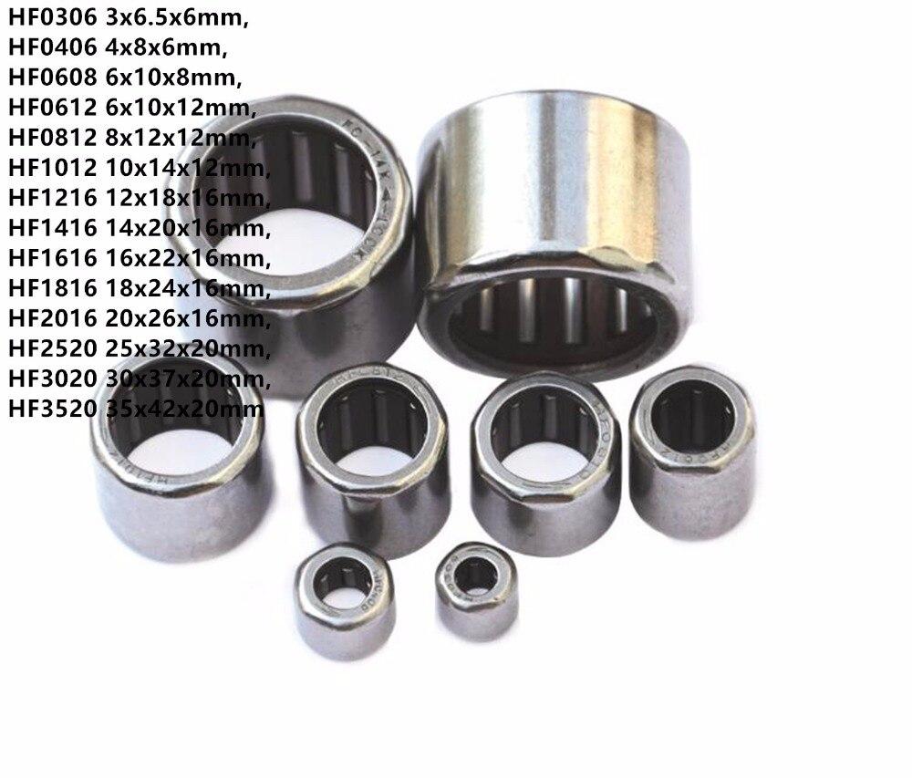 20 шт. HF0306 HF0406 HF0608 HF0612 HF0812 HF1012 к HF2016 односторонний игольчатый подшипник, односторонний роликовый подшипник